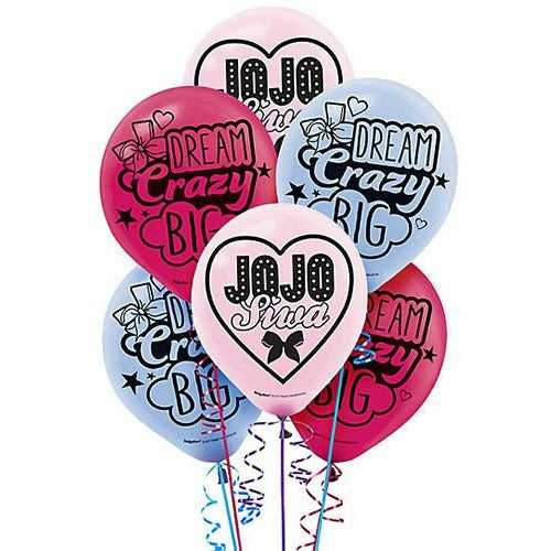 JoJo Siwa Latex Balloons 6ct, 12""