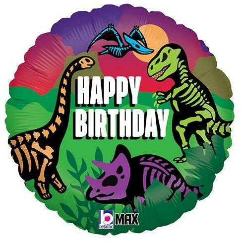 "253 Jurassic Dinosaur Happy Birthday 18"" Mylar Balloon"