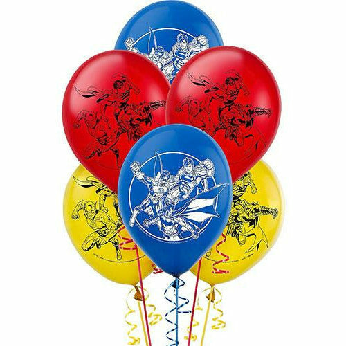 Justice League Balloons 6ct
