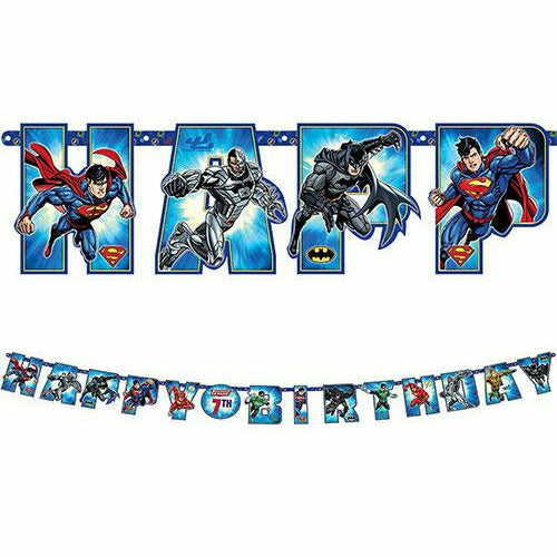 Justice League Birthday Banner Kit
