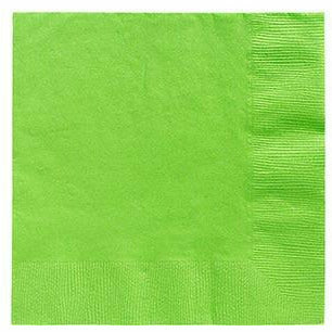 Kiwi Green Beverage Napkins 50ct