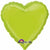 "044 Kiwi Green HX Heart 19"" Mylar Balloon"