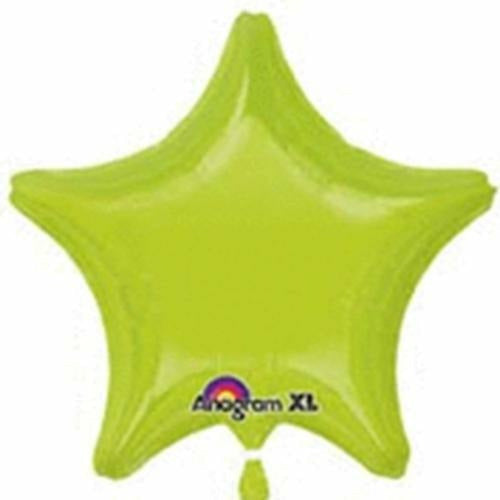 "020 Kiwi Green Star 19"" Mylar Balloon"