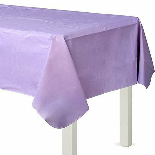 Lavender Flannel-Backed Vinyl Tablecloth