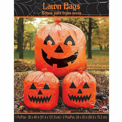 Pumpkin Lawn Bags 3pc