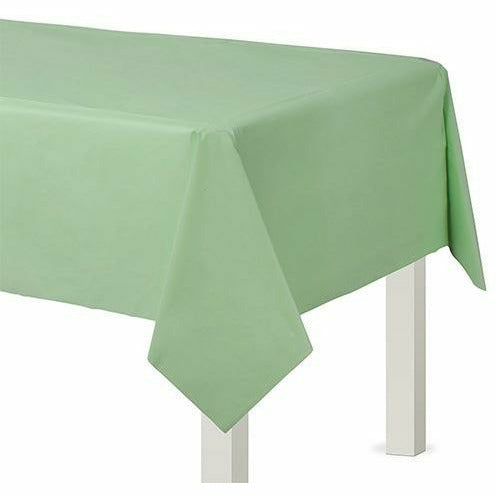 Leaf Green Plastic Table Cover
