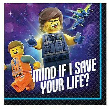 The LEGO Movie 2: The Second Part Beverage Napkins 16ct