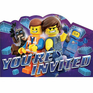 The LEGO Movie 2: The Second Part Invitations 8ct