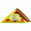 "322 Let's Eat Pizza Jumbo 45"" Mylar Balloon"