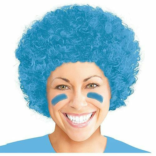 Light Blue Afro Wig