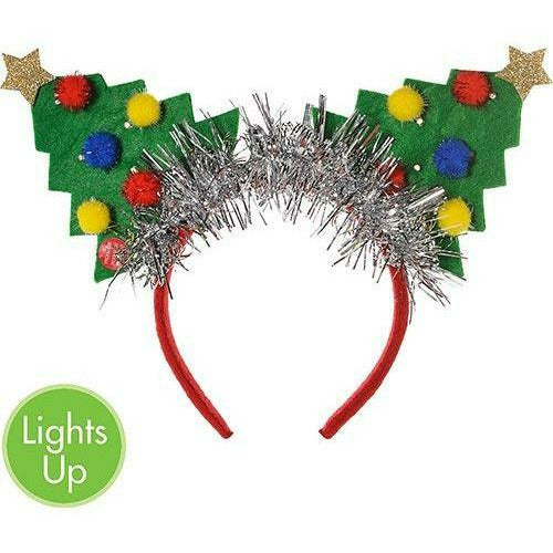 Light-Up Christmas Tree Headband