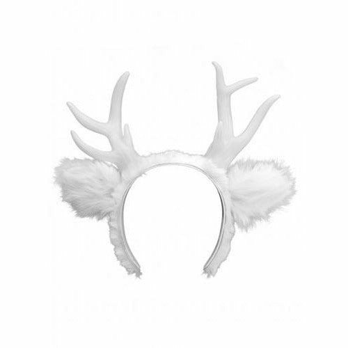 Light-Up Deer Antlers White LumenHorns Headband