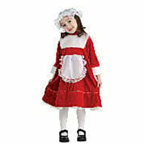 Girls Lil' Mrs Santa Dress Costume