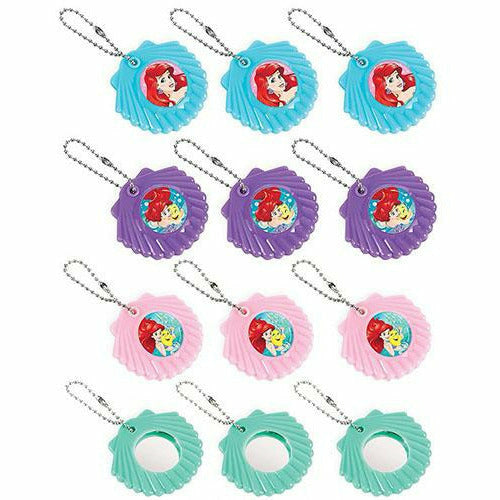 Little Mermaid Mirror Keychains 12ct