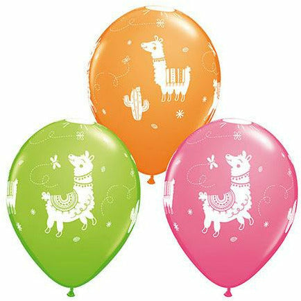 "Llamas Mixed Assortment 11"" Latex Balloon"