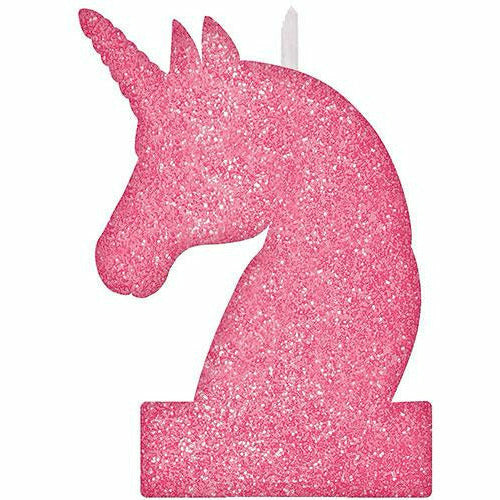 Glitter Magical Unicorn Birthday Candle