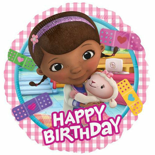 "*A004 Doc McStuffins Happy Birthday 17"" Mylar Balloon"