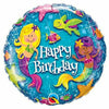 "C009 Mermaids Happy Birthday 17"" Mylar Balloon"
