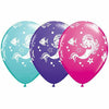 "Merry Mermaids Mixed Assortment 11"" Latex Balloon"