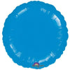 "067 Blue HX Metallic Round 19"" Mylar Balloon"