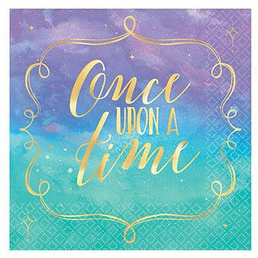 Metallic Disney Once Upon a Time Beverage Napkins 16ct