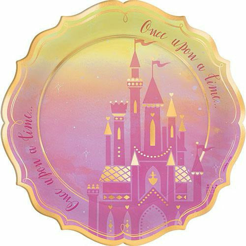 Metallic Disney Once Upon a Time Dinner Plates 8ct