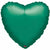 "045 Green HX Metallic Heart 19"" Mylar Balloon"