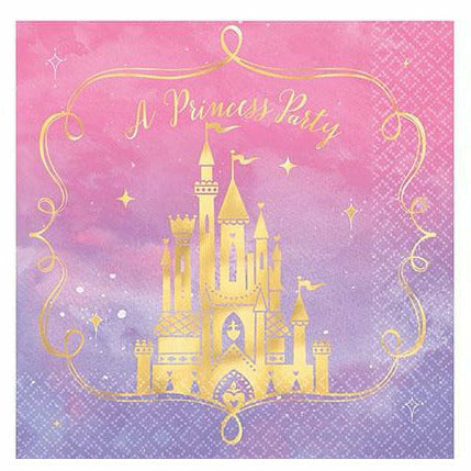 Metallic Disney Once Upon a Time Lunch Napkins 16ct