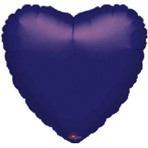 "041 Purple HX Metallic Heart 19"" Mylar Balloon"