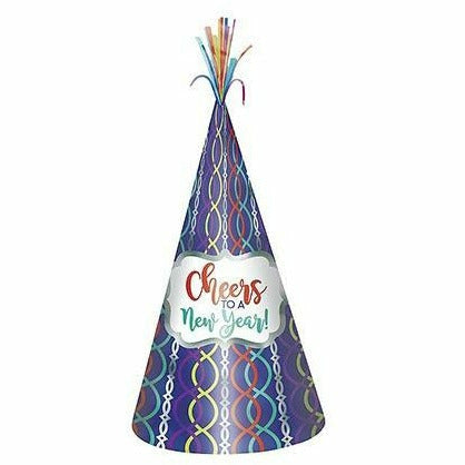 Metallic Colorful Cheers to a New Year Party Hat