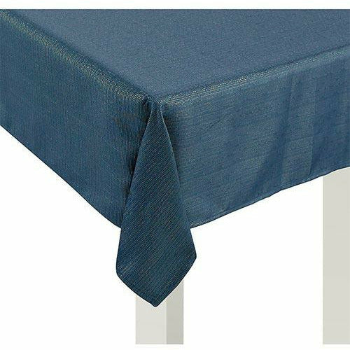 Metallic Teal Fabric Tablecloth