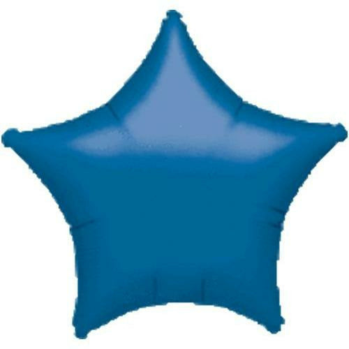 "019 Blue Metallic Star 19"" Mylar Balloon"
