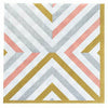 Mixed Metallic Geometric Lunch Napkins 16ct