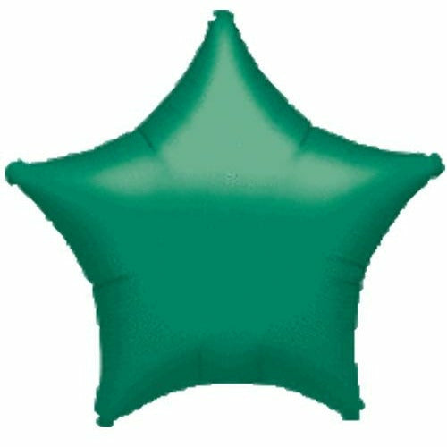 "021 Green Metallic Star 19"" Mylar Balloon"