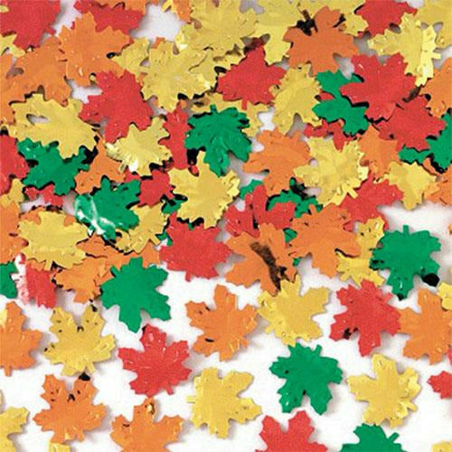 Metallic Maple Leaf Confetti