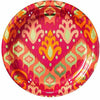 Metallic Orange Ikat Lunch Plates 8ct