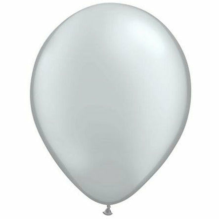 "Metallic Silver 5"" Latex Balloon"