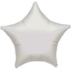 "024 Silver Metallic Star 19"" Mylar Balloon"