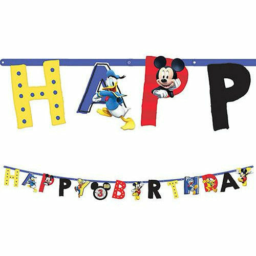 Mickey Mouse Birthday Banner Kit