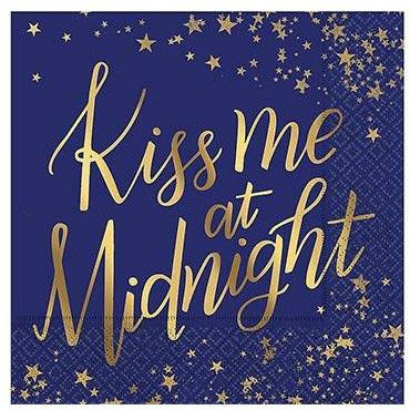 Kiss Me at Midnight Beverage Napkins