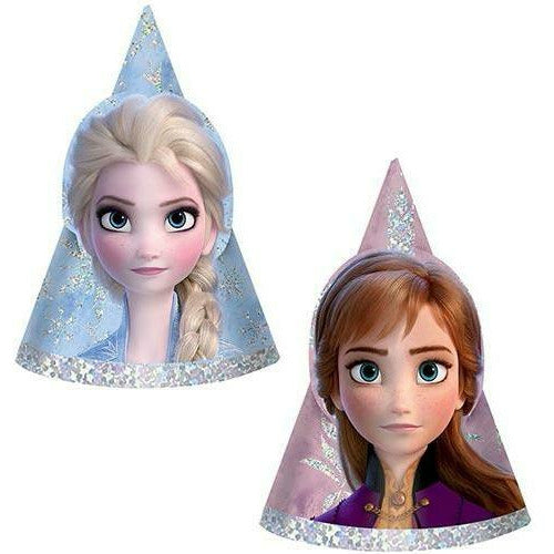 Mini Prismatic Frozen 2 Party Hats 8ct