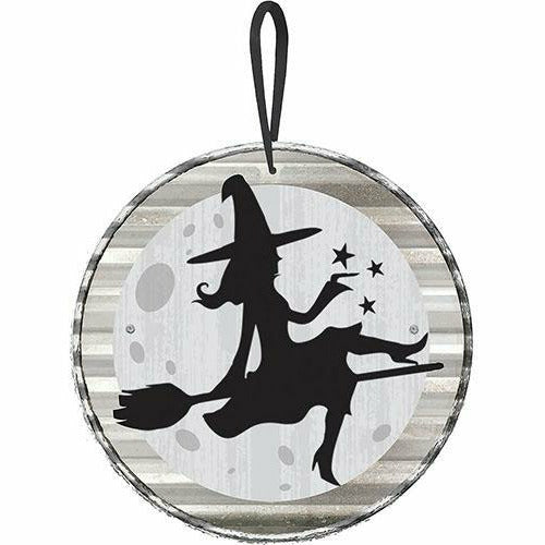 Mini Flying Witch Sign