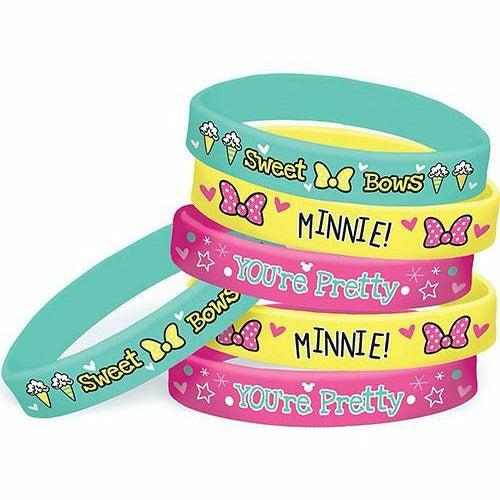 Minnie Mouse Wristbands 6ct