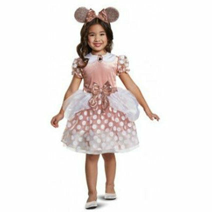 Toddler Girls Minnie Mouse Rose Gold Classic Costume - Minnie Mouse