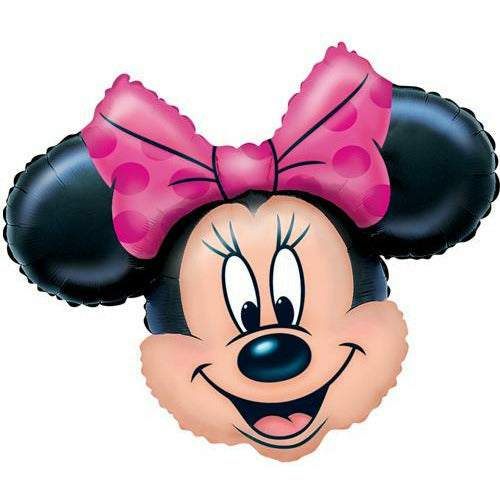 "129 Minnie Mouse Head Jumbo 28"" Mylar Balloon"