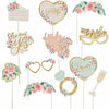 Mint to Be Floral Photo Booth Props 13ct