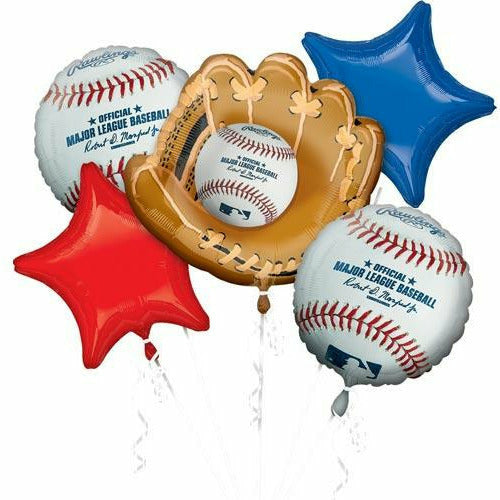 D014 MLB Baseball Balloon Bouquet 5PC