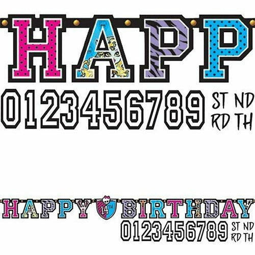 Monster High Birthday Banner Kit