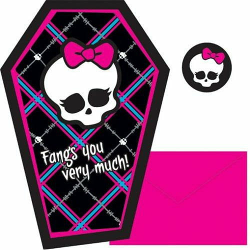 Monster High Thank You Cards