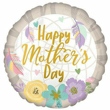 "Happy Mother's Day Feather 17"" Mylar Balloon"